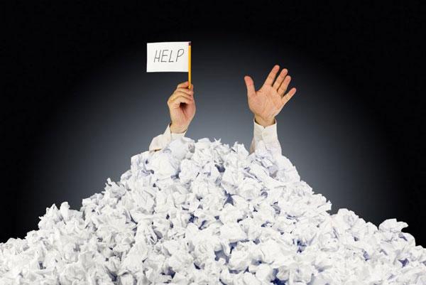 Afrontar el estrés estrés Estrés crónico pile of paper help