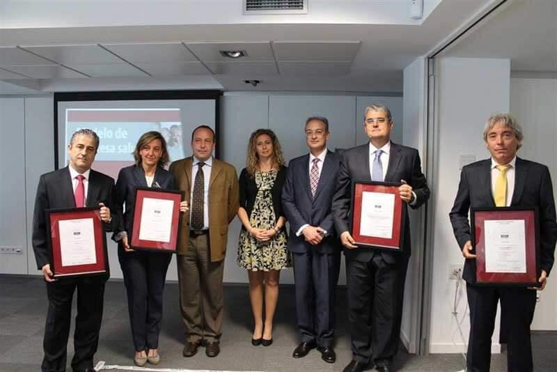 Accenture, Asepeyo, FCC y Mahou reciben los primeros certificados AENOR de Empresa Saludable empresa saludable7