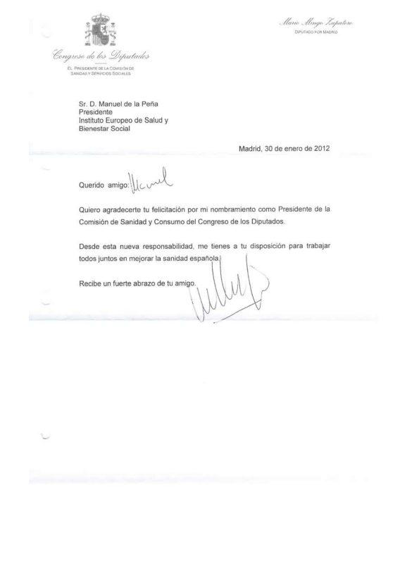 Reconocimientos a Manuel de la Peña - Instituto Europeo de Salud y Bienestar Social